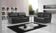 Промоция на Черен диван от естествена кожа