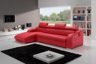 Промоция на Червен диван с лежанка по поръчка