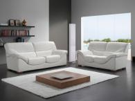 Промоция на Комплект дивани от естествена кожа в бяло