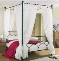 Промоция на Спалня от ковано желязо с балдахин