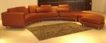 Промоция на лукс заоблен диван