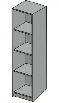 Промоция на Офис стелаж с четири рафта 42х40х162см